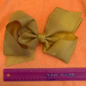 Yellow/Gold hair bow